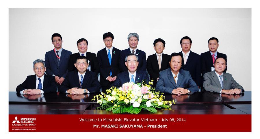 VMEC chào đón Chủ Tịch Tập Đoàn Mitsubishi Electric