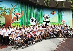 Singapore – Tổ chức sự kiện nhân đạo xã hội ý nghĩa cho các bệnh nhân dưỡng lão của trung tâm Apex (Social Welfare)