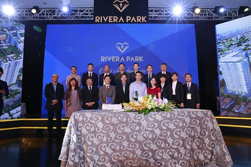 Đại diện VMEC tham dự Lễ ra mắt thương hiệu Rivera Park tại Hà Nội